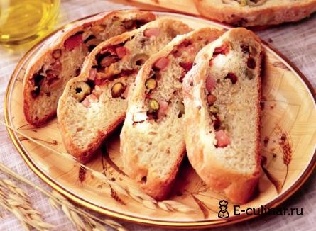Готовое блюдо Хлеб с ветчиной и помидорами