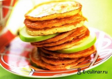Готовое блюдо Яблочные оладьи