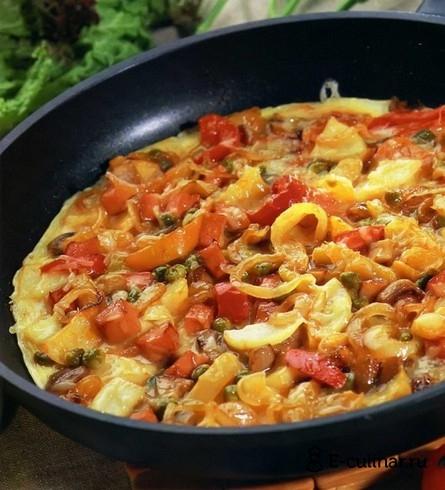 Готовое блюдо Омлет по-деревенски