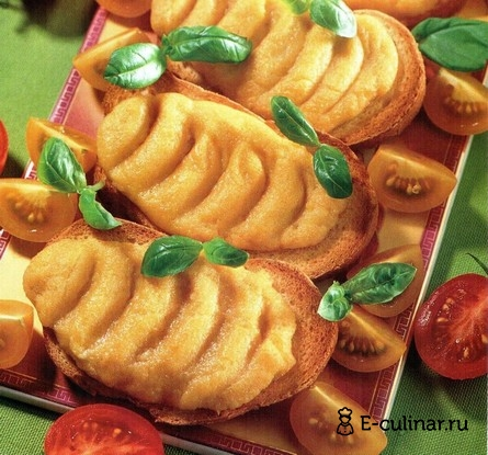 Готовое блюдо Гренки с сыром