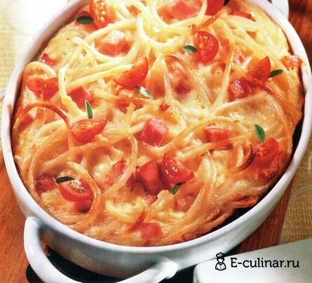 Готовое блюдо Макароны, запеченные с сыром