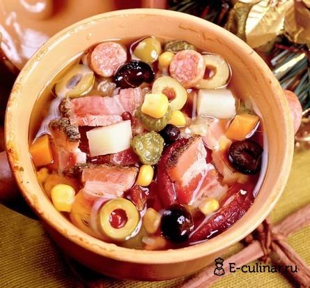 Готовое блюдо Солянка «Новогодняя»