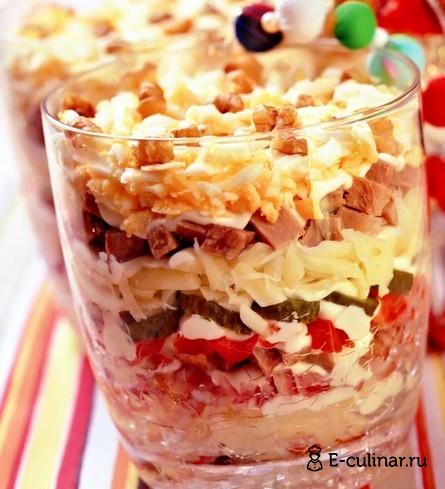 Готовое блюдо Праздничный салат с языком