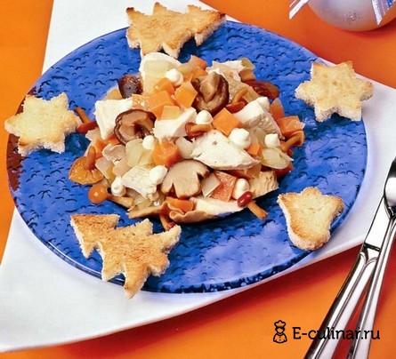 Готовое блюдо Cалат «Новогодняя фантазия»