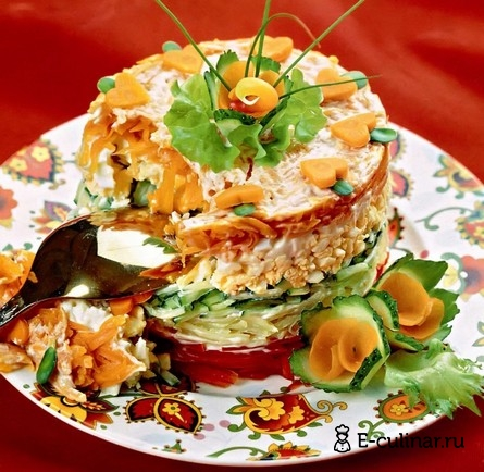 Готовое блюдо Cалат овощной «Фигаро»