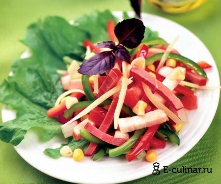 Готовое блюдо Салат мясной с овощами