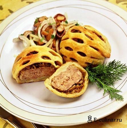 Готовое блюдо Котлетки в сетке