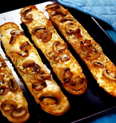 Готовое блюдо Пицца «4 сыра» с грибами
