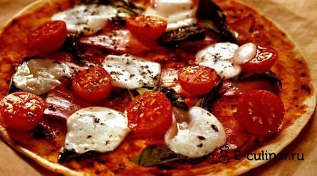 Готовое блюдо Пицца на пшеничных лепешках