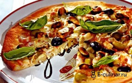 Готовое блюдо Пицца с морепродуктами