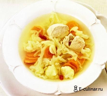 Готовое блюдо Пикантный куриный суп