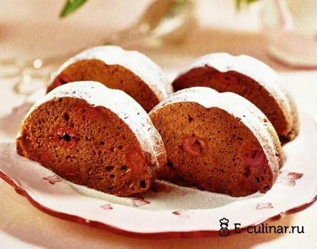 Готовое блюдо Вишнево-шоколадный кекс