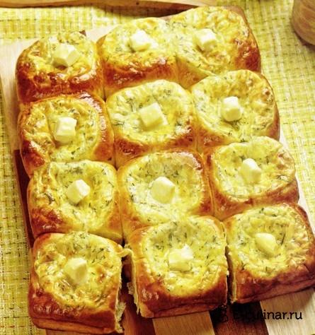 Готовое блюдо Пирог из ватрушек с сыром