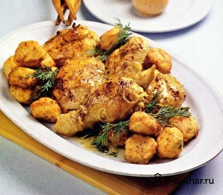 Готовое блюдо Курица с сырными крокетами