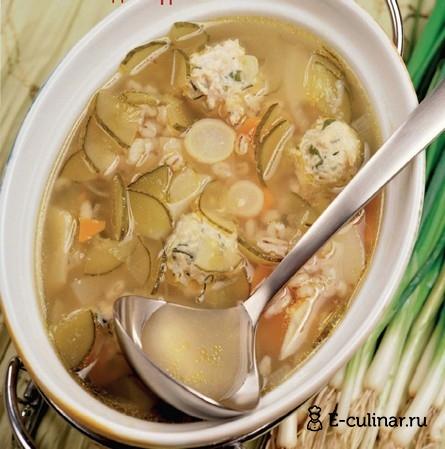 Готовое блюдо Рассольник с рыбными фрикадельками