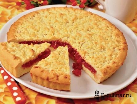 Готовое блюдо Песочный пирог с вареньем