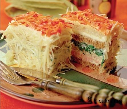 Готовое блюдо Бутербродные тортики с окороком