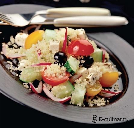 Готовое блюдо Салат с кускусом и фетой