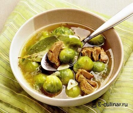 Готовое блюдо Суп из баранины с брюссельской капустой