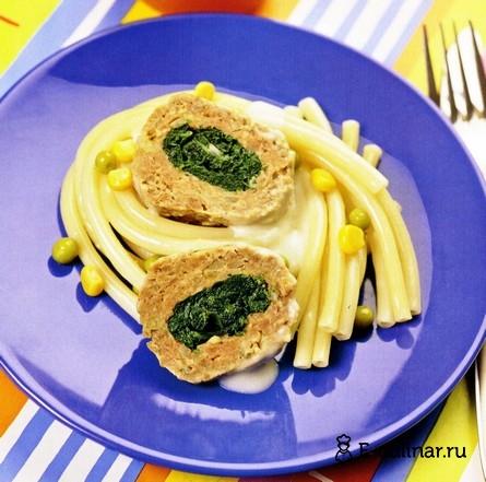 Готовое блюдо Мясные тефтельки со шпинатом