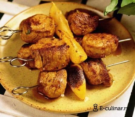 Готовое блюдо Пикантный шашлык из свинины
