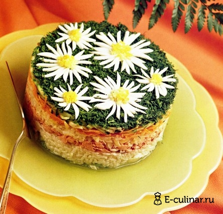 Готовое блюдо Салат «Ромашки»