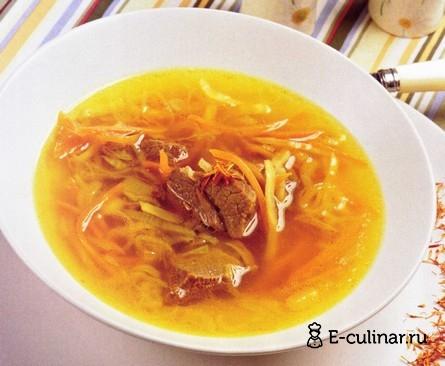 Готовое блюдо Суп из телятины с шафраном