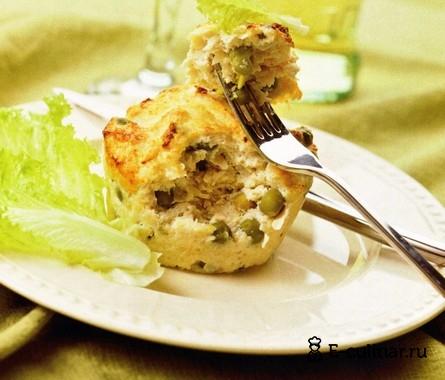 Готовое блюдо Куриное суфле с горошком