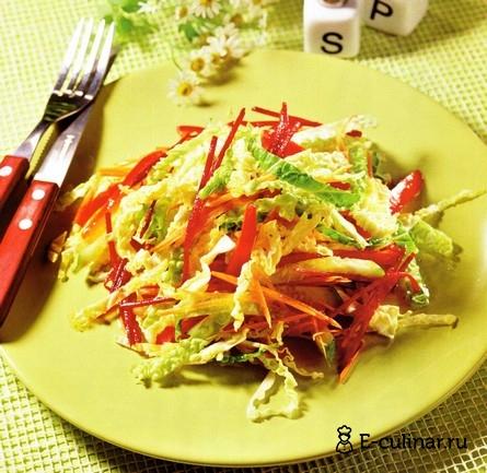 Готовое блюдо Овощной салат с имбирной заправкой