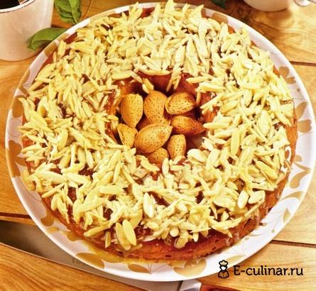 Готовое блюдо Медовый кекс с миндалем