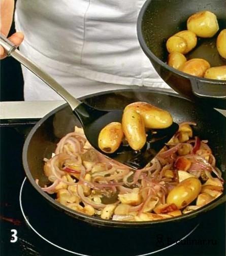 Картошка с белыми замороженными грибами рецепт