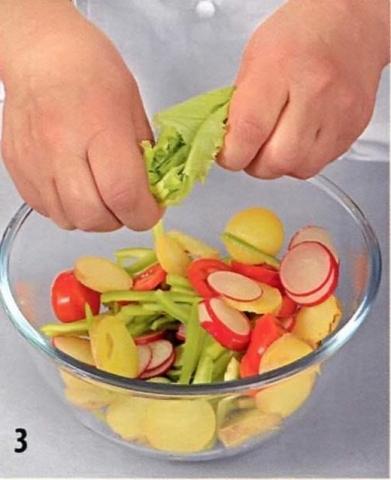 Как разложить овощи на тарелке